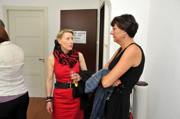 Barbara Pestalozzi (Standortmarketing) mit Daniela von Büren Kummer