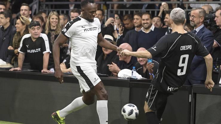 Usain Bolt kann Fussball spielen – und wie!