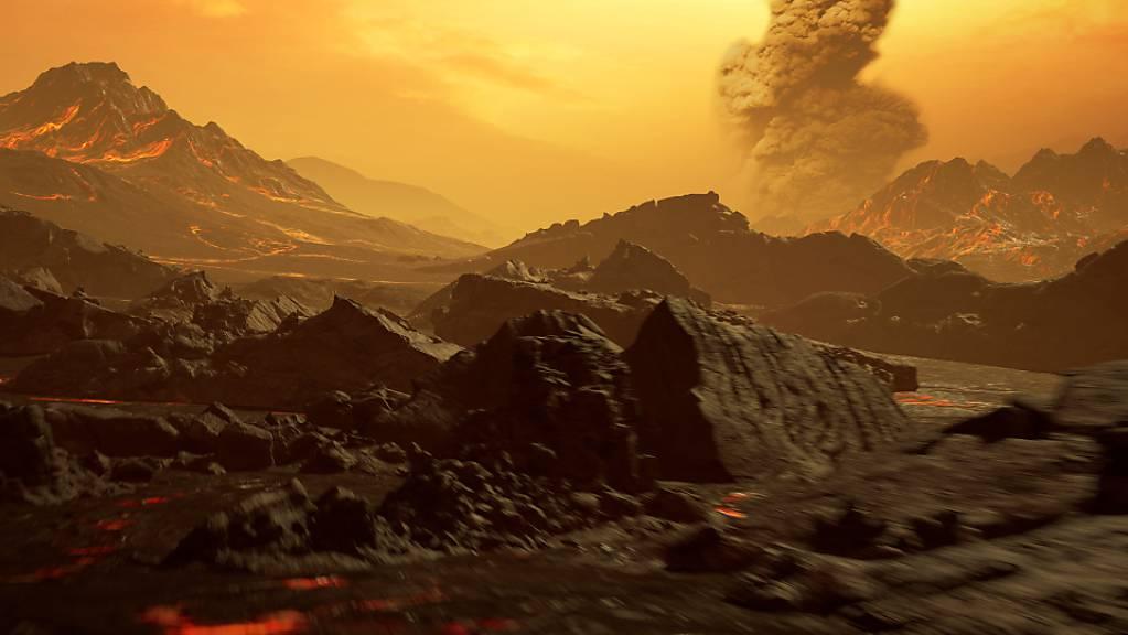 Eine künstlerische Darstellung der neu entdeckten Super-Erde mit dem Namen Gliese 486b: Mit 430 Grad ist der Planet glühend heiss und besitzt möglicherweise eine Atmosphäre. (Handout Science)