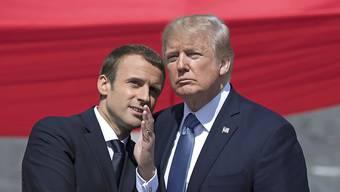 Bleibt hartnäckig: Frankreichs Präsident Emmanuel Macron versucht weiter US-Präsident Donald Trump von der Pariser Klimapolitik zu überzeugen. (Archivbild)