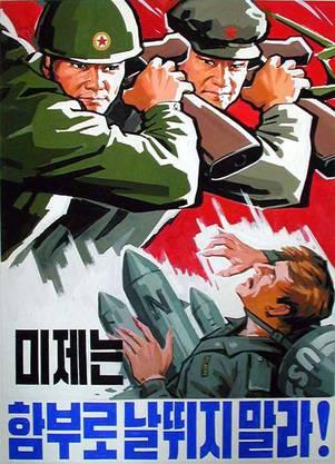 Im Juni 1950 fiel die nordkoreanische Armee in Südkorea ein – der Beginn des Koreakriegs. Binnen kurzer Zeit besetzten Truppen aus dem Norden mit Unterstützung Chinas fast die gesamte Halbinsel. UNO-Truppen drängten die Nordkoreaner zurück. Der Verhandlungen über einen Waffenstillstand begannen 1951 unter Vermittlung der UdSSR. Im Juli 1953 unterzeichneten die UNO, Nordkorea und China einen Waffenstillstandsvertrag. Die entmilitarisierte Zone am 38. Breitengrad ist bis heute die Grenze zwischen Nord und Süd.