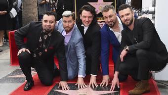 Die fünf früheren NSYNC-Mitglieder mit ihrem Stern in Los Angeles