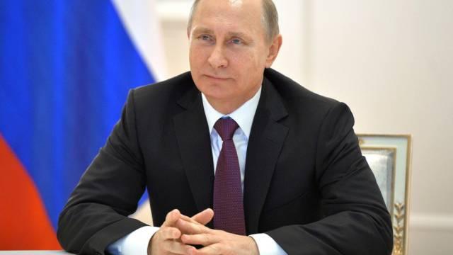Der russische Präsident Wladimir Putin in Moskau