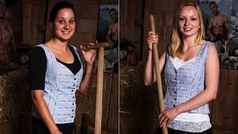 Die zwei Solothurner Kandidatinnen Veronique (24) aus Oensingen und  Marina (23) aus Büren.