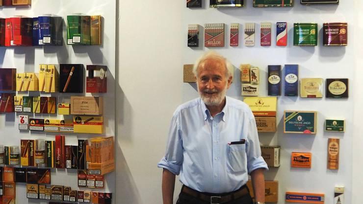«Hier kostet alles ungefähr die Hälfte, auch die Löhne»: Heinrich Villiger in der Lounge seiner Zigarrenfirma in Waldshut.