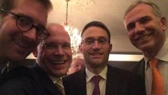 Conradin Cramer (LDP), Baschi Dürr (FDP), Lukas Engelberger (CVP) und Lorenz Nägelin (SVP, v.l.n.r.)