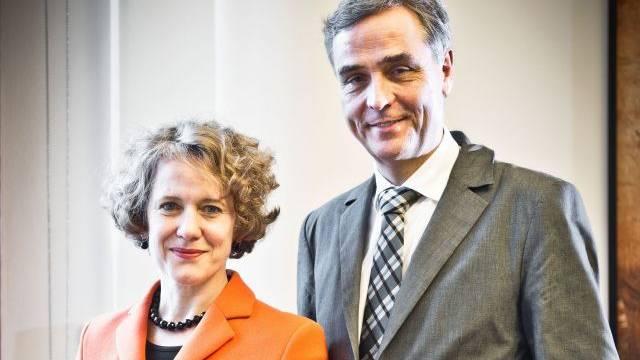 Die Präsidenten Corine Mauch und Guy Morin sprechen erstmals gemeinsam über die Zukunft der Schweizer Städte.