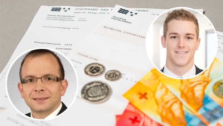 Am Montag beantworten die Experten Lukas Kretz (BDO) und Silas Rohner (VZ Aarau) Ihre Fragen zur Steuererklärung.