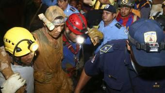 Einer der geretteten Minenarbeiter