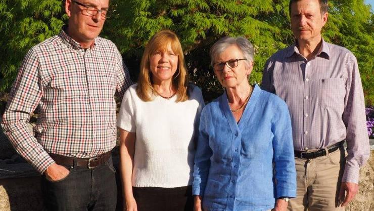 Vorstand Forum Weiningen, v.l.n.r. Adrian Sieber, Evi Hinterkircher, Käthy Bösch, Tino Schütterle
