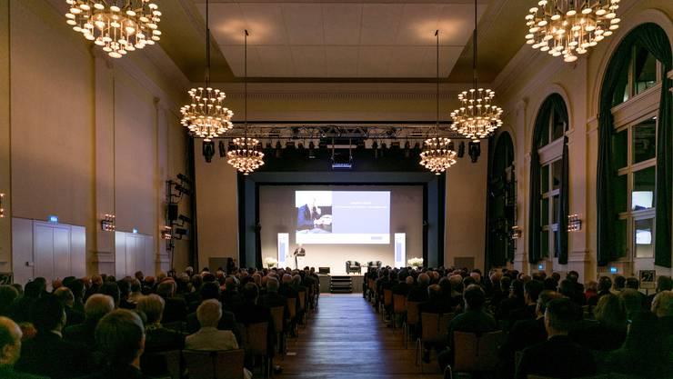 Rund 400 Gäste besuchten den traditionellen Finanzanlass der Neuen Aargauer Bank (NAB).