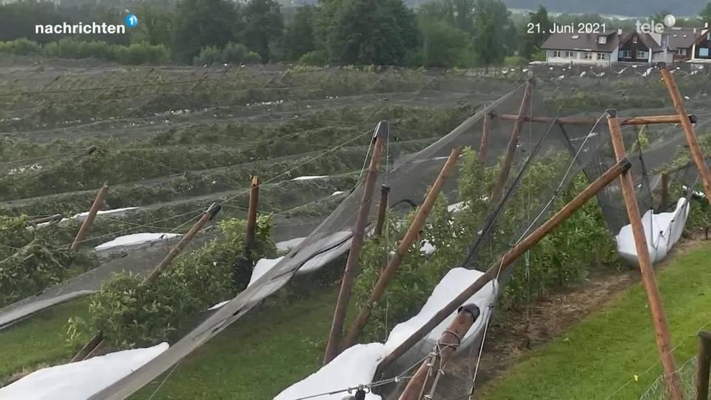 Unwetter zerstört Badi in Reiden und Plantage in Buchrain