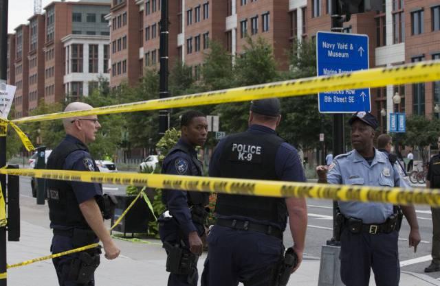 Der Tatort in Washington wird abgesperrt