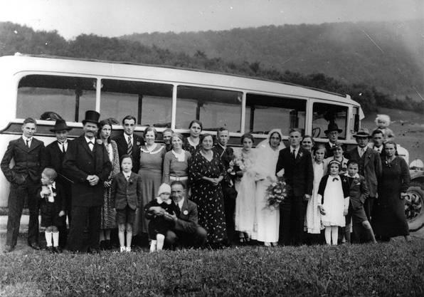 1937: Die Hochzeit von Rosa Leutwyler und Emil Anner.