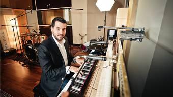 Musikproduzent, Hitschreiber und Geschäftsmann: Roman Camenzind (41) in seinem Hitmill-Studio in Zürich. Adrian Bretscher/SI/RDB