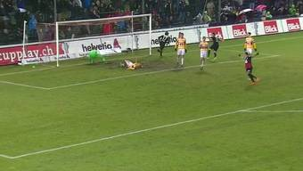 FC Aarau - FC Luzern 3:5: Alle Tore des Cup-Spiels im Brügglifeld