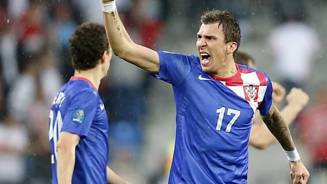Mario Mandzukic zweifacher Torschütze für die Kroaten.