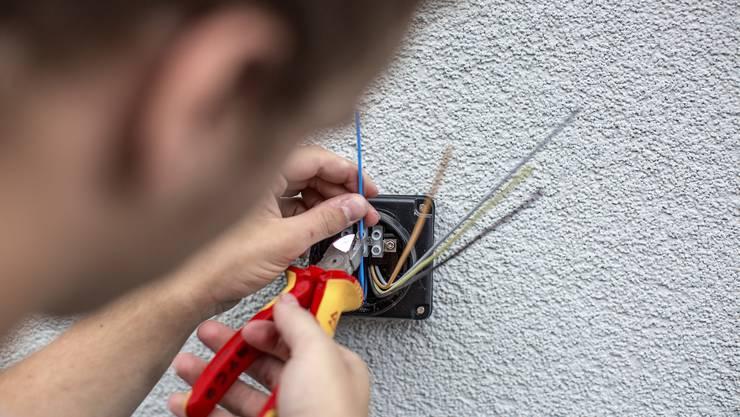 Keine Nachwuchssorgen: In der Berufsgruppe Elektrotechnik sind 95 Prozent der Lehrstellen besetzt.