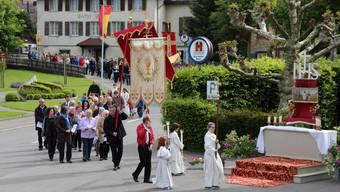 Fronleichnam-Prozessionen im Aargau.