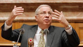Ein Bild vom Tag seiner Abwahl: Christoph Blocher hält am 13. Dezember 2007 vor der Vereinigten Bundesversammlung seine Abschiedsrede.