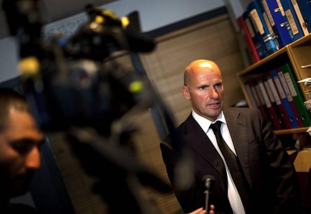 Geir Lippestad, Verteidigungsanwalt von Anders Behring Breivik, während einem Interview vom Dienstag