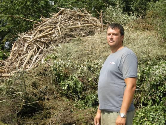 Kompostwart Stefan Affolter hat das tote Neugeborene entdeckt