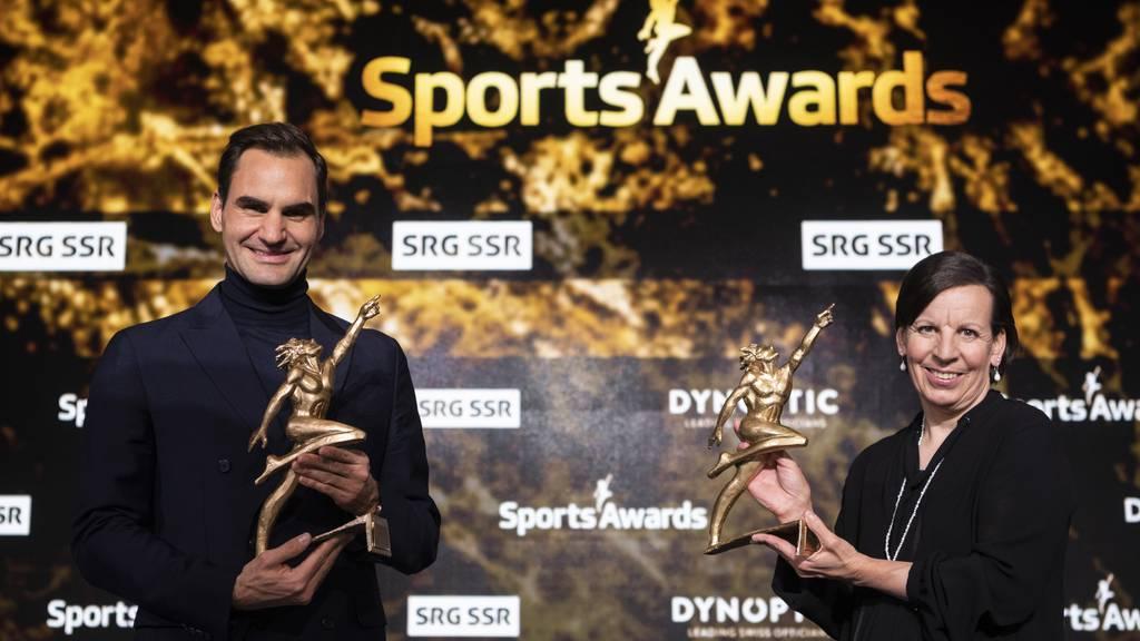 Vreni Schneider und Roger Federer siegen bei den «Sport Awards»