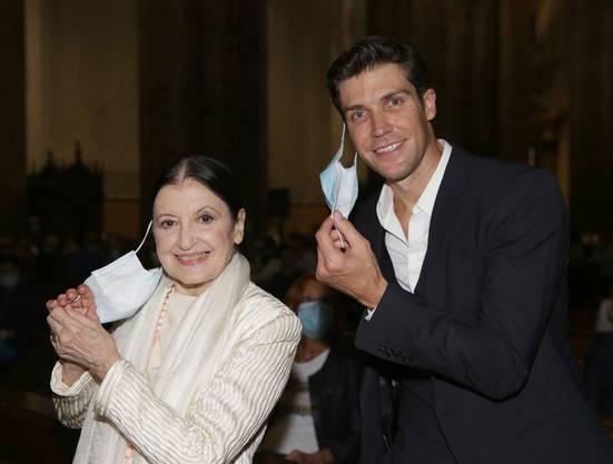 Ex-Primaballerina Carla Fracci und Primoballerino Roberto Bolle.