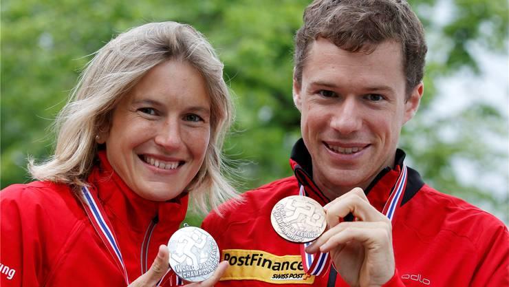 Goldgaranten im Schweizer Sport: Simone Niggli-Luder und Daniel Hubmann.