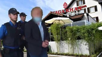 """Der 34-jähriger Italiener (im Bild) und der Mittäter standen wegen des Überfalls auf das """"Saga Khan"""" und weiterer Delikte im Mai vor dem Obergericht."""