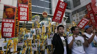 Protestierende in Hongkong