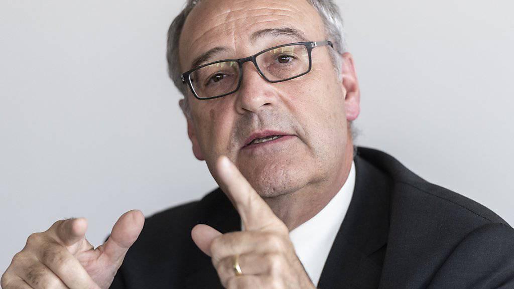 Bundesrat Guy Parmelin, Vorsteher des Departements für Wirtschaft, Bildung und Forschung WBF, sprach über das Abkommen mit den Mercosur-Staaten von einem grossen «Meilenstein».