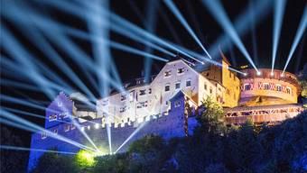 Statt des Feuerwerks präsentierte das Fürstentum eine Lichtshow.