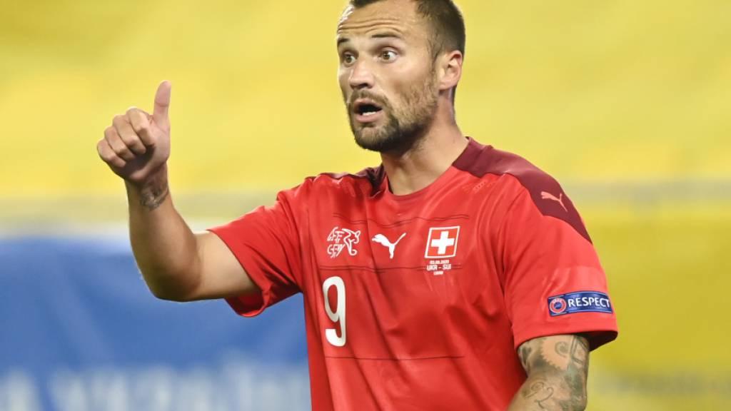 Daumen hoch für Haris Seferovic: Der Stürmer des Schweizer Nationalteams zeigt sich auch im Klub als erfolgreich