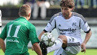 Carmine Pascariello ist neu Trainer. Bild: Pascariello 2012 als Spieler beim FC Muri. Archiv/Alexander Wagner