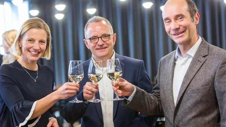 Suzanne Marclay, Hanspeter Hilfiker und Werner Schib