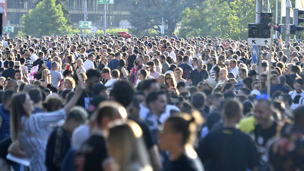 Trotz 2,5 Millionen Besuchern gab es am Züri  Fäscht praktisch keine gravierenden Zwischenfälle.