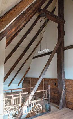 Der Blick kann in jeder Wohnung bis zum Dachfirst wandern.