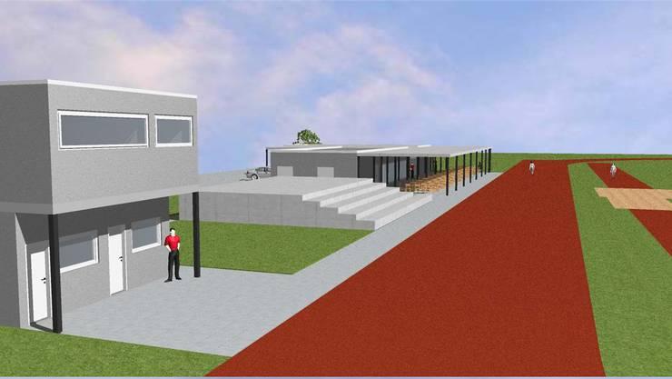 Visualisierung der geplanten Leichtathletik-Anlage.