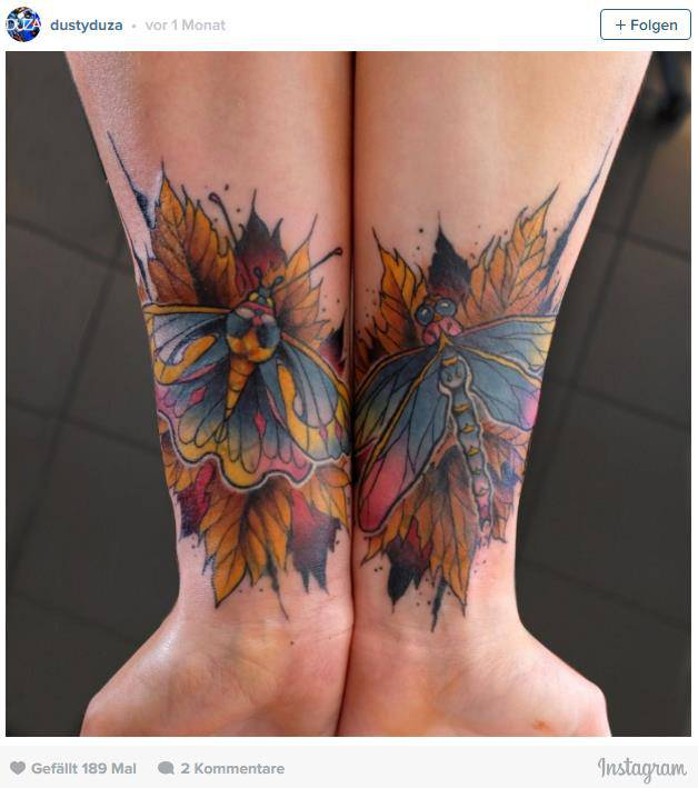 Herbst-Tattoos (© Instagram)