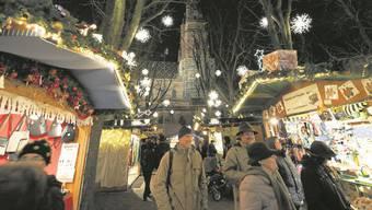 Auch diese Jahr wieder auf dem Münsterplatz: Der Basler Weihnachtsmarkt