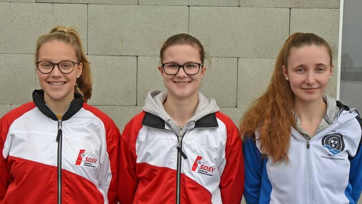 Die besten Juniorinnen: (von links) Larissa Donatiello (2.), Janine Frei (1.) und Vanessa Zürcher (3.).