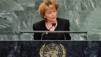 Bundespräsidentin Eveline Widmer-Schlumpf vor der UNO-Vollversammlung