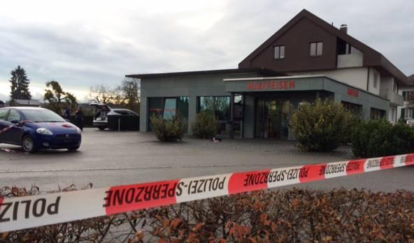Banküberfall in Recherswil.