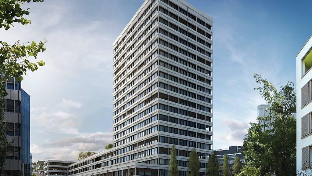 Schweizer Immobilienfirmen leiden bislang wenig unter der Krise. Mit ihren Mietern, die oft schlechter durch die Pandemie kommen, suchen sie das Gespräch. Im Bild das neue Geschäftsgebäude Atmos von PSP Swiss Property in Zürich-West. (Symbolbild)