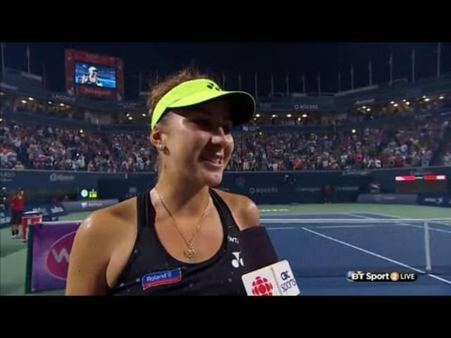 Das Platzinterview mit Siegerin Belinda Bencic