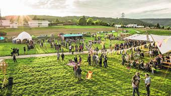 Die Organisatoren des Kleinlaut-Festivals in Riniken haben sich mit einem Kunstprojekt auf dem Festgelände beworben.