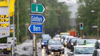 Stau am Kreuzplatz: Der Derendinger Gemeinderat hofft auf einen zusätzlichen Autobahnanschluss.