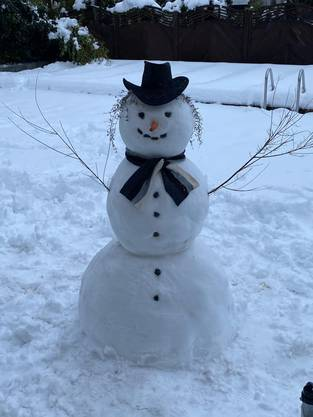 Der fröhliche Schneemann von Leserin Antonella Cavalucci-Solomita