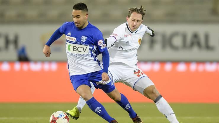 Damals noch Gegner, heute vereint in der Krise beim FC Basel: Samuele Campo (links) und Luca Zuffi.